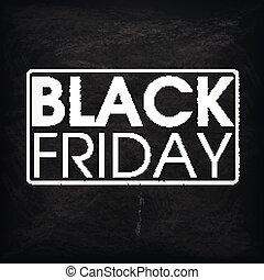 黒, 金曜日, 黒板