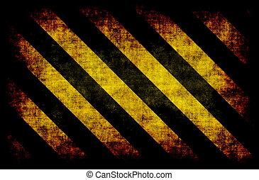 黒, 黄色, 危険, ストライプ