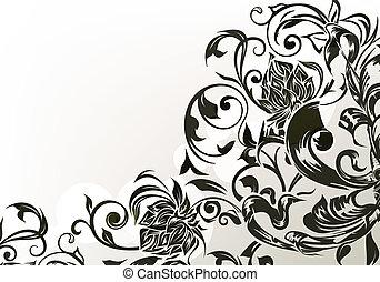 黒, eps10, 装飾