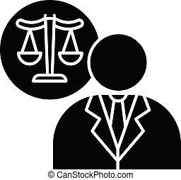 黒, glyph, 弁護士, アイコン