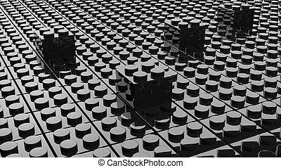 黒, lego, 背景, ∥で∥, 4, ブロック, 際立