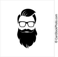 黒, white., hipster.