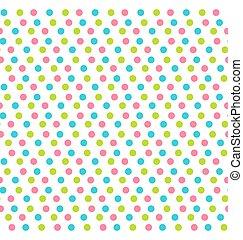 點, 被隔离, 圖案, seamless, 多种顏色, 白色