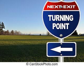 點, 轉動, 路標