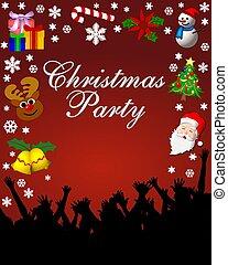 黨, 招貼, 聖誕節, 紅色