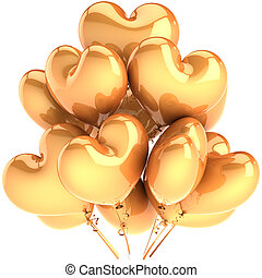 黨, 气球, 如, 黃金, 心