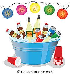黨, 水桶, 冰, 邀請