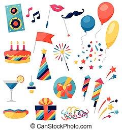 黨, objects., 集合, 慶祝, 圖象