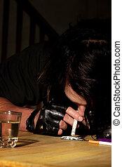 鼻を鳴らす, コカイン, ∥あるいは∥, ヘロイン, 人