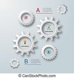 齒輪, 樣板,  infographics