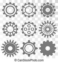 齒輪, 機器, 輪子