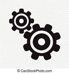 齿轮, 图标
