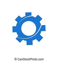 齿轮, 设计, 矢量, 元素, 图标, 标识语