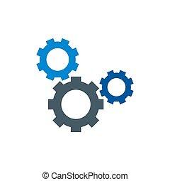 齿轮, 设计, 矢量, 元素, 图标