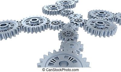 齿轮, 银, 观点, 若干, 边观点