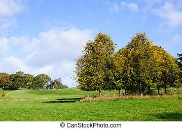 가을, 계절, 골프 코스