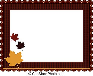 가을, 깅엄, 구조