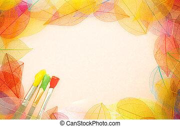 가을, 예술, 배경