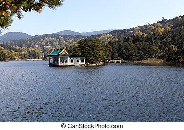 가을, 호수, 에서, lushan
