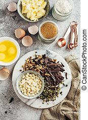 가정 굽기, chocolate., 성분