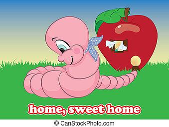 가정, 단 것, 가정, 벌레, 벡터