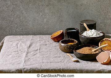 가정, 성분, 빵 굽기