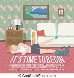 가정, 연습, 적당, 포스터
