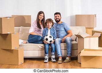 가정, 이동, 가족