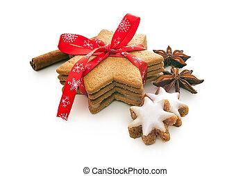 가정, 쿠키, 굽, 크리스마스