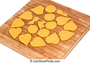 가정, 쿠키, 만든, 빵 굽기
