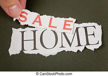 가정, 판매를 위해