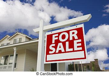 가정, 판매 표시를 위해, &, 새로운 가정