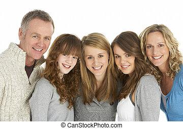 가족, 소파에 앉아 있는 것