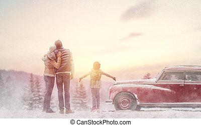 가족, 와..., 겨울, 계절
