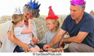가족, 통하고 있는, 생일