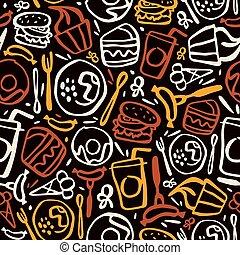 간이 식품, seamless, 패턴