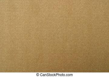 갈색 포장지, 판지