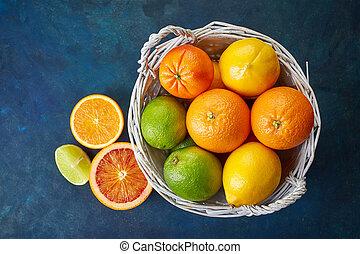 감귤류의, 신선한 과일