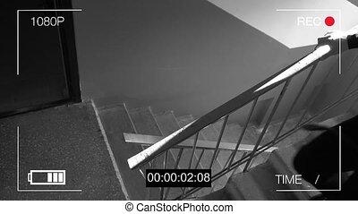 감시 카메라, 붙잡힌다, 그만큼, 강도, 에서, a, 가면, 와, a, 쇠지렛대