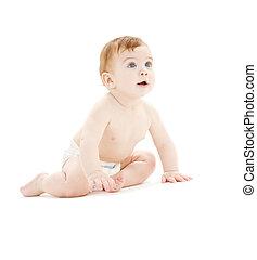 갓난 남자 아기, 기저귀