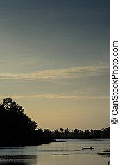 강, 와..., 하늘, 에서, 그만큼, 저녁