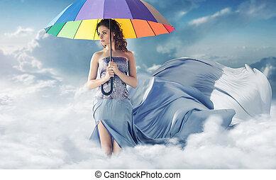개념의, 초상, 의, 그만큼, 여자, 에서, 그만큼, 하늘