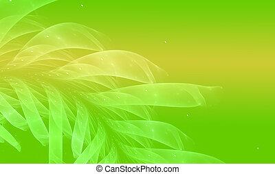 개념의, 환경, 배경, 그늘, 의, 녹색, 자연