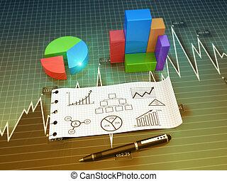 개념, 도표, 사업
