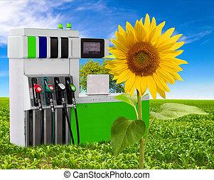 개념, 의, 가솔린, 와..., 날씬한, 환경