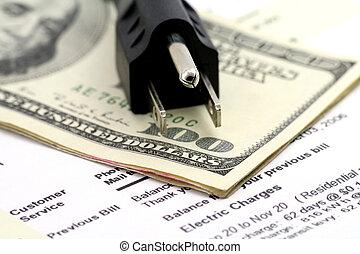 개념, 의, 비싸다, 에너지, 계산서