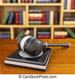 개념, 의, justice., 작은 망치, 와..., 법, books.