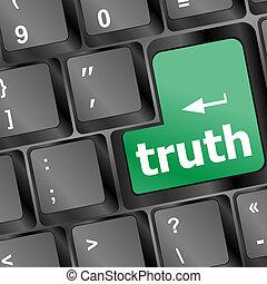개념, 진실, 사업, -, 열쇠, 키보드