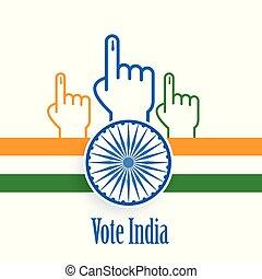 개념, 포스터, 인도, 디자인, 선거, 투표