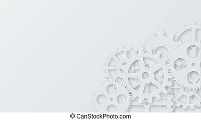 개념, 피트수, 현대, 우주기계론, 배경., 산업의, 은 설치한다, 기술, animation.